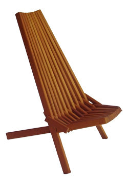 Mahogany Clam Chair available online only at BelizeGifts.com Folds for easy shipment and storage.